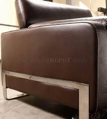 Accent Chair With Brown Leather Sofa Leather Modern 3pc Sofa Set W Crocodile Pattern Accents