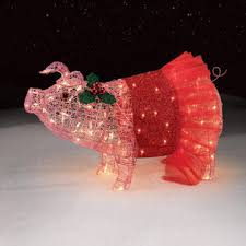 32 pig with tutu lights pretty in pink holidays at kmart