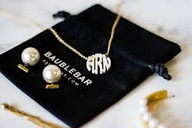 pearl monogram necklace sale alert baublebar the a dallas fashion