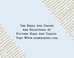 Pottery Barn Registry Login Dazzling Diamond Foil Registry Cards By Basic Invite