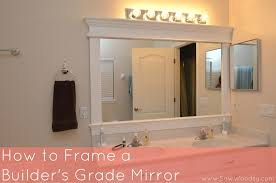 builder grade title video how to frame a builder s grade mirror title sew