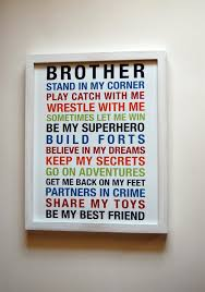 Bedroom Ideas For Brothers Brothers Wall Art Printable Boys Room Decor Print Big Brother