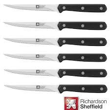 cucina set of 6 steak knives kings and queens