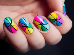 nail art rainbow beautify themselves with sweet nails