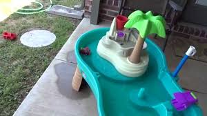 step2 spill splash seaway water table step2 splish splash seas water table with umbrella review youtube