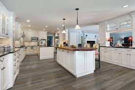 gray kitchen floors with oak cabinets gray flooring ideas for a modern kitchen builddirect