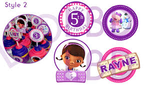 Doc Mcstuffins Home Decor Doc Mcstuffins Cupcake Toppers Doc Mcstuffins Birthday Doc