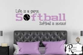 softball wall decal etsy softball decal life game serious wall for girls