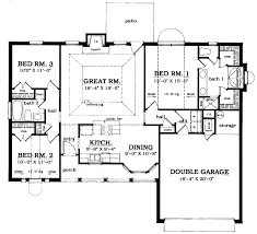country style house plan 3 beds 2 baths 1419 sq ft plan 42 569