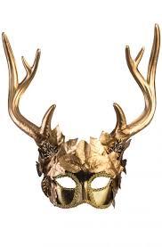 masqurade mask golden faun masquerade mask purecostumes