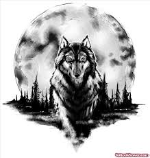 beautiful moon and wolf design viewer com