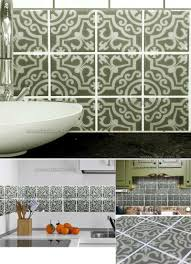 25cmx25cm tile decals set of 16 tile stickers for kitchen tiles
