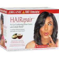 organic root stimulator hairepair no lye conditioning relaxer