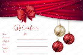 printable christmas gift vouchers ribbons christmas gift certificate template