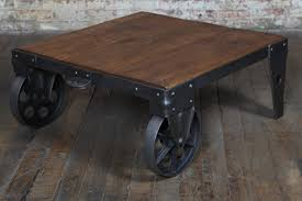 Industrial Cart Coffee Table Industrial Cart Coffee Table Refinished Illuminiez Studios