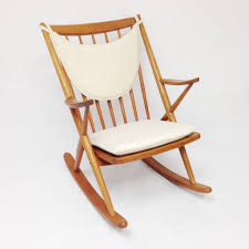 Contemporary Rocking Chairs Furniture Cool Teak Rocking Chairs Brown Vinyl Leather Backrest