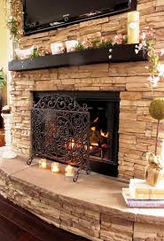 Fireplace Surround Ideas Stacked Stone Fireplace Surround With Tv Ideas Home Fireplaces