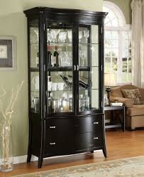 curio cabinet contemporary living room style curved end glass