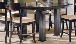 homelegance paradise counter height table with one leaf 779 36