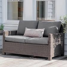 Rattan Two Seater Sofa Beautiful Wooden Garden Furniture