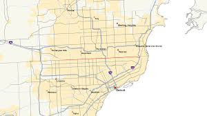 Hop On Hop Off Los Angeles Route Map by M 102 Michigan Highway Wikipedia