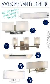 round up of contemporary and modern bathroom lights