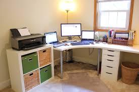 impressive white corner office desk decor ideas and dining room