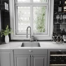 pull kitchen faucet vigo edison pull single handle kitchen faucet with optional