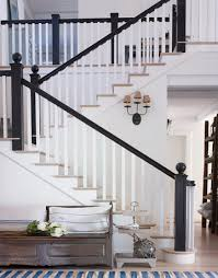Painting Banister Spindles A Whitewashed California Beach House Banisters Black Banister