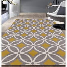 contemporary trellis chain grey yellow area rug 5 u0027x7 u0027 home