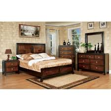 Traditional Bedroom Sets - import furniture of america traditional bedroom set walnut finish
