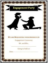 5 free sample engagement ceremony invitation templates u2013 printable