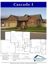 Cascade Floor Plan by Floor Plans Spokane And Coeur D Alene