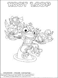 skylanders coloring pages flameslinger coloring