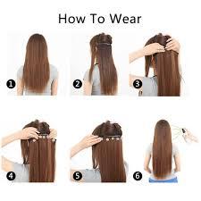 hair extension clips xi rocks straight 5 clip in hair extensions high temperature fiber
