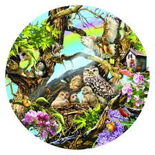 jigsaw puzzles family of owls 1000 jigsaw puzzle by