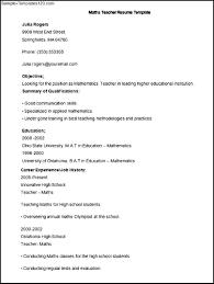 Math Tutor Resume Sample by Math Teacher Resume Resume For Your Job Application