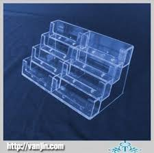 decent 4 layer 10 pocket clear acrylic name card display holder