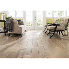 this premium porcelain wood look tile is easy to clean and