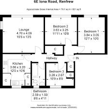 3 bedroom flat for sale in iona road renfrew pa4