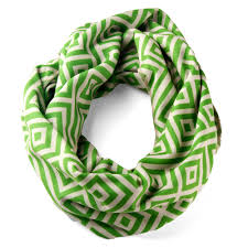 cool green products tapestry infinity scarf cream green scrappy products