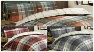 lomond checked 100 brushed cotton flannelette duvet quilt cover