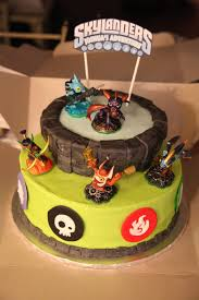 skylanders sheet cake confetti cake with chocolate frosting and