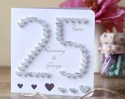 husband anniversary card anniversary card 25th silver