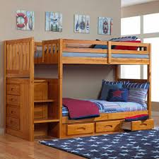 Staircase Bunk Bed Honey Finish Sams Club - Stairs for bunk beds