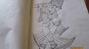lord sri krishna drawing art youtube
