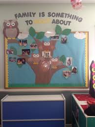 school family photo wall i made this for my classroom to display this board documents pictures of the children with their families on the wall this is important to have in any child care centre so that children can feel