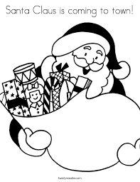 santa claus coming town coloring twisty noodle