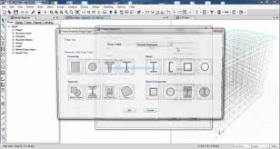 define floor plan etabs define material and section property youtube