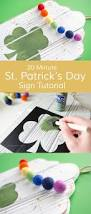 20 min diy st patrick u0027s day sign felt ball decor crafts and
